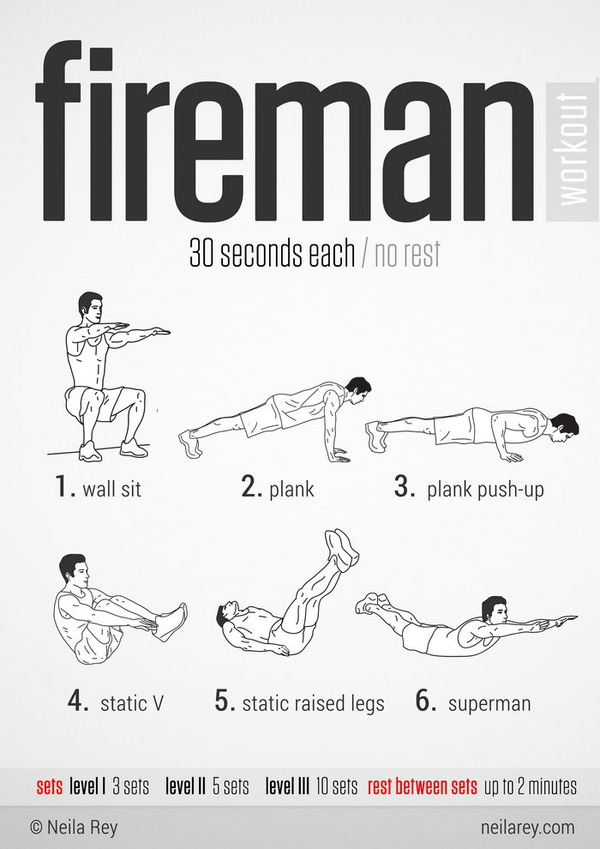 fireman workout