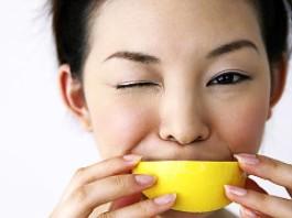 Try biting a lemon wedge
