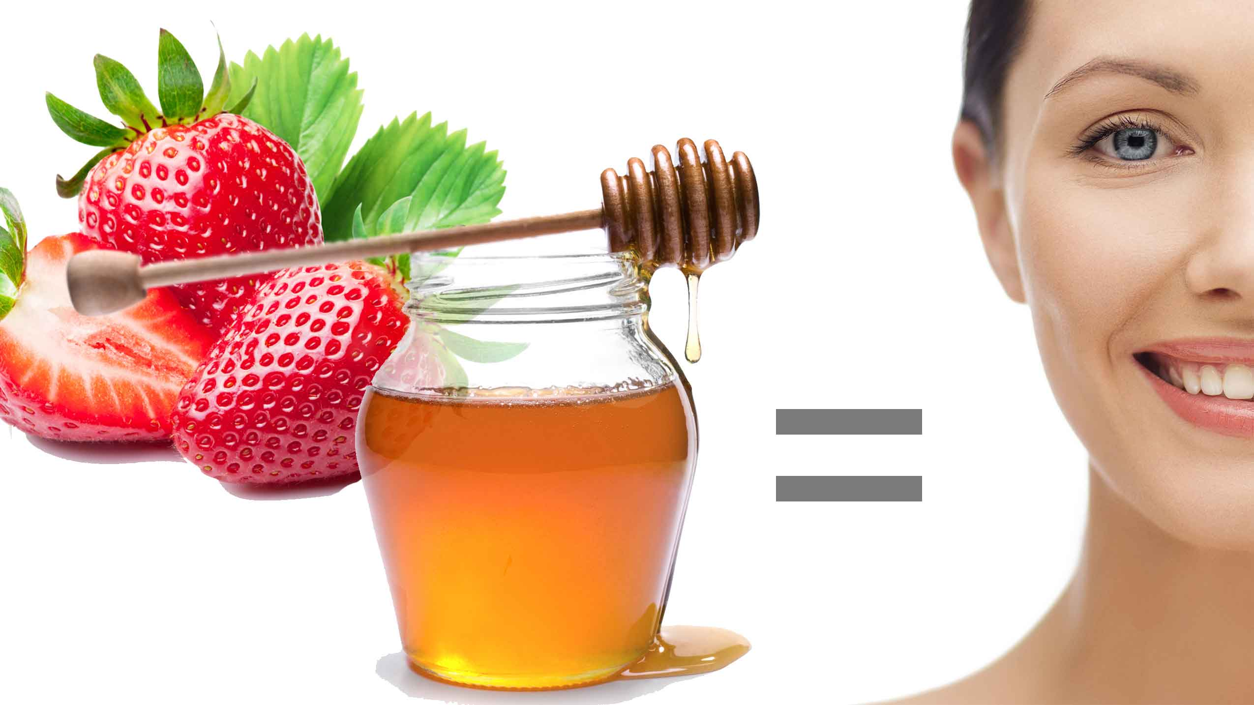 Strawberries and Honey to treat pimples
