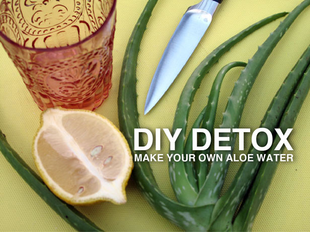 Aloe detox water drink
