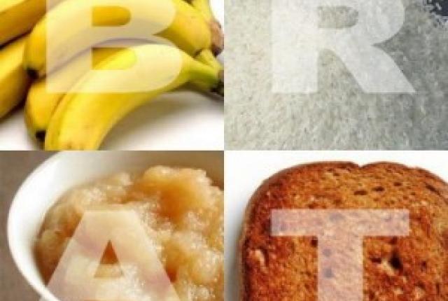 BRAT DIET - How to get rid of Diarrhea