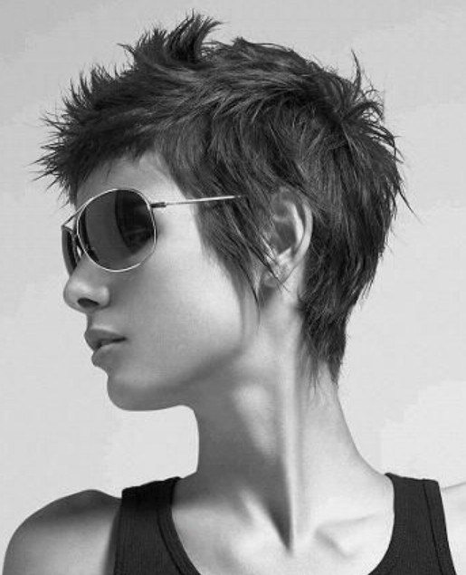 Messy, Spiky, Shaggy Pixie Haircut For Women