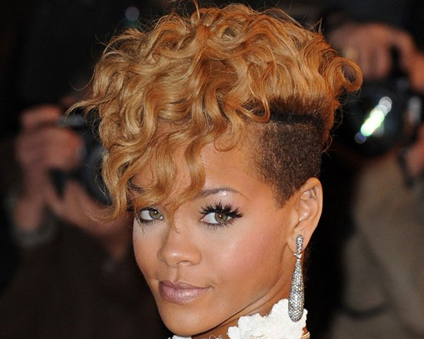 Mohawks + Curls = Great Stylish Combination Haircut For Women
