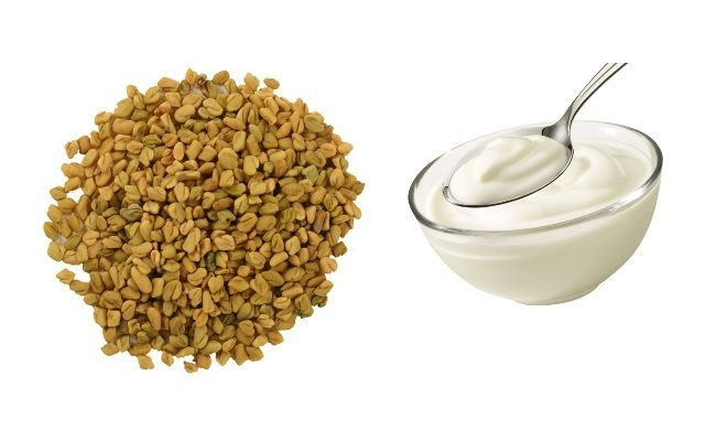 fenugreek seeds and yogurt