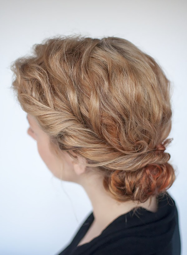 Curly Twist Bun Hairstyle