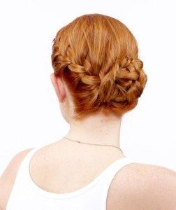 High-Class French Braid Bun