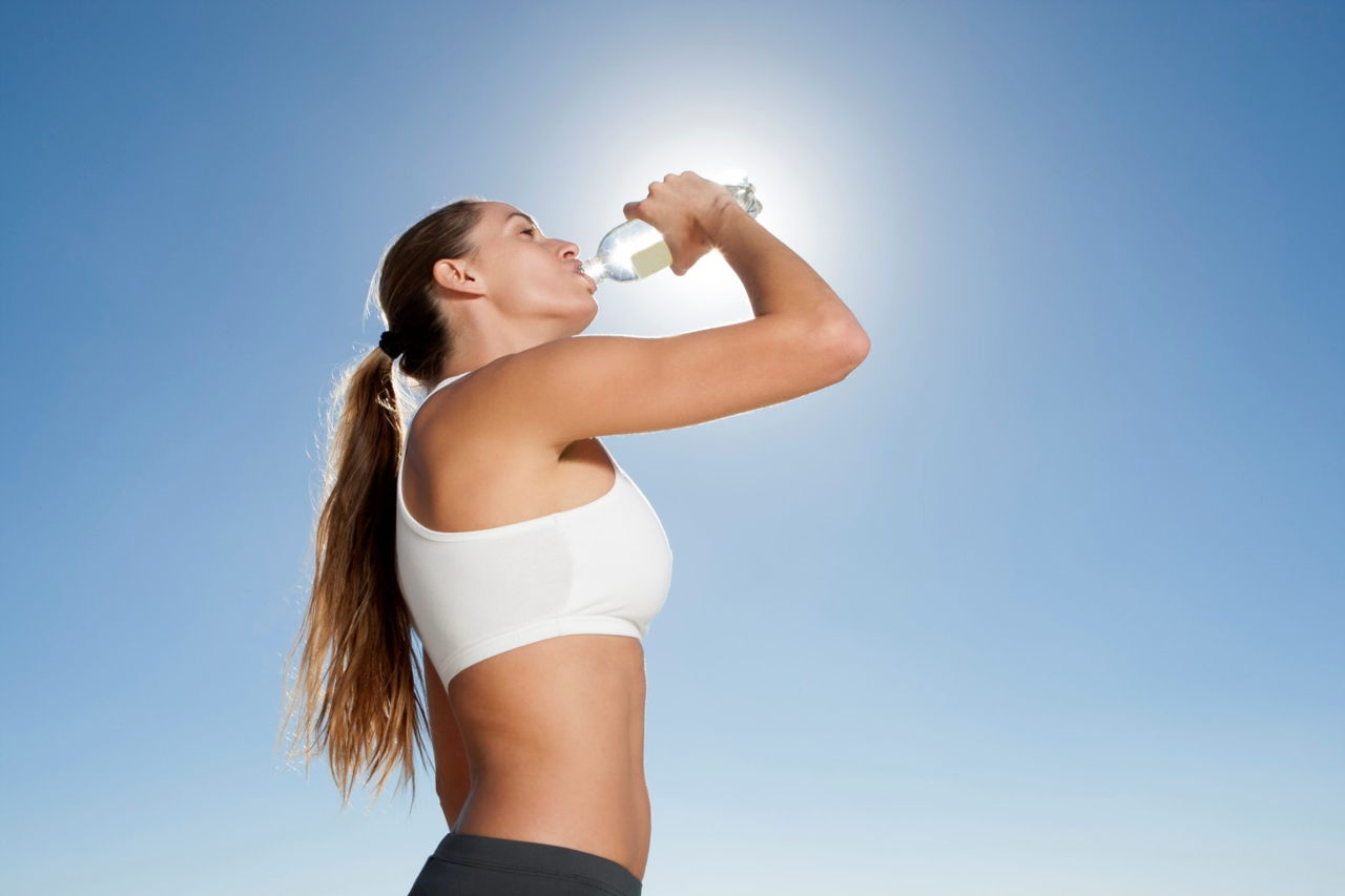 Drink more water to stop acne
