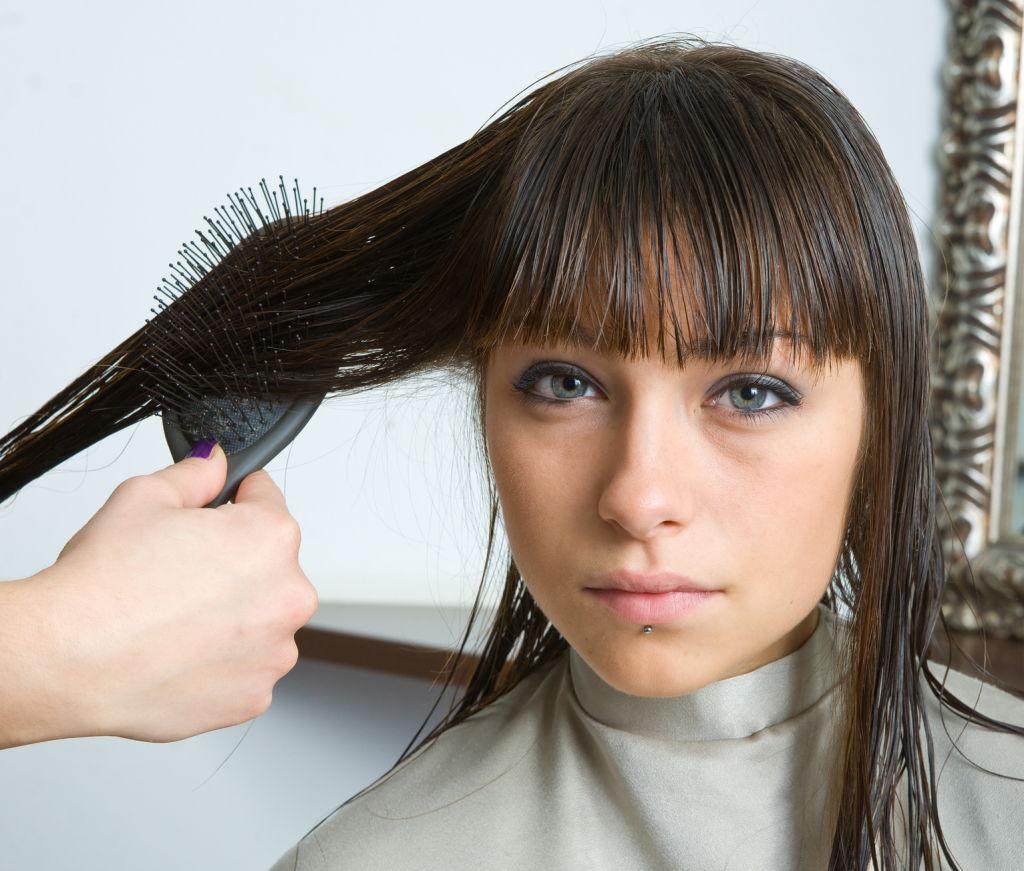 Easiest way to straighten curly hair
