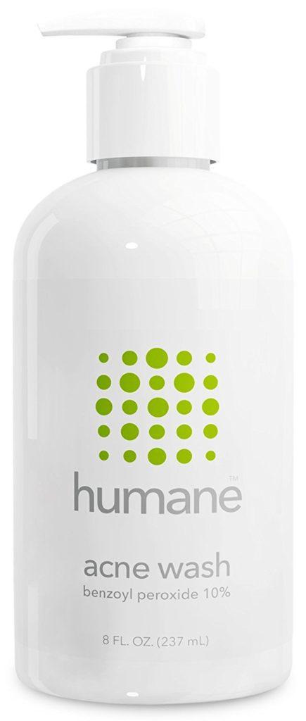 Humane Benzoyl Peroxide 10% Best Body Acne Treatment & Face Wash