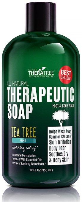 Oleavine Antifungal Body Soap with Tea Tree and Neem