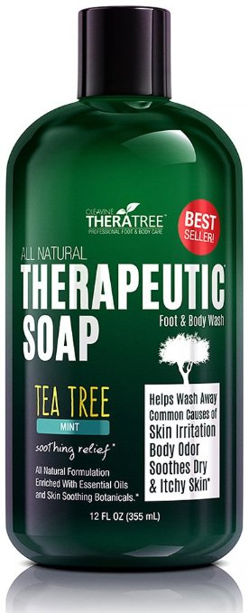 Oleavine Antifungal Body Soap with Tea Tree and Neem