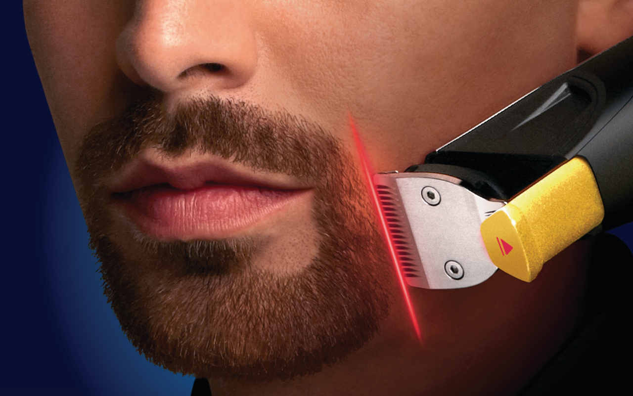how to shape a goatee using a trimmer