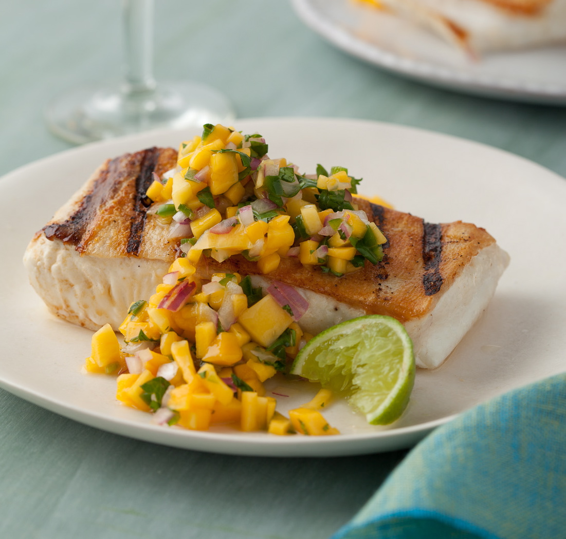 Pan Seared Halibut to enjoy with your date while on a low diet sugar plan