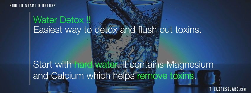 how to cleanse your body through water detox
