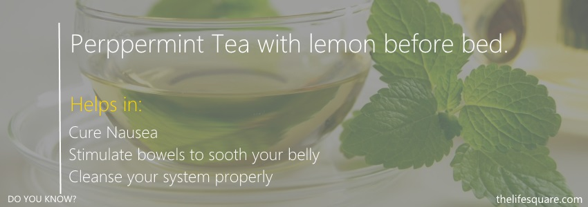 Peppermint Tea with lemon water