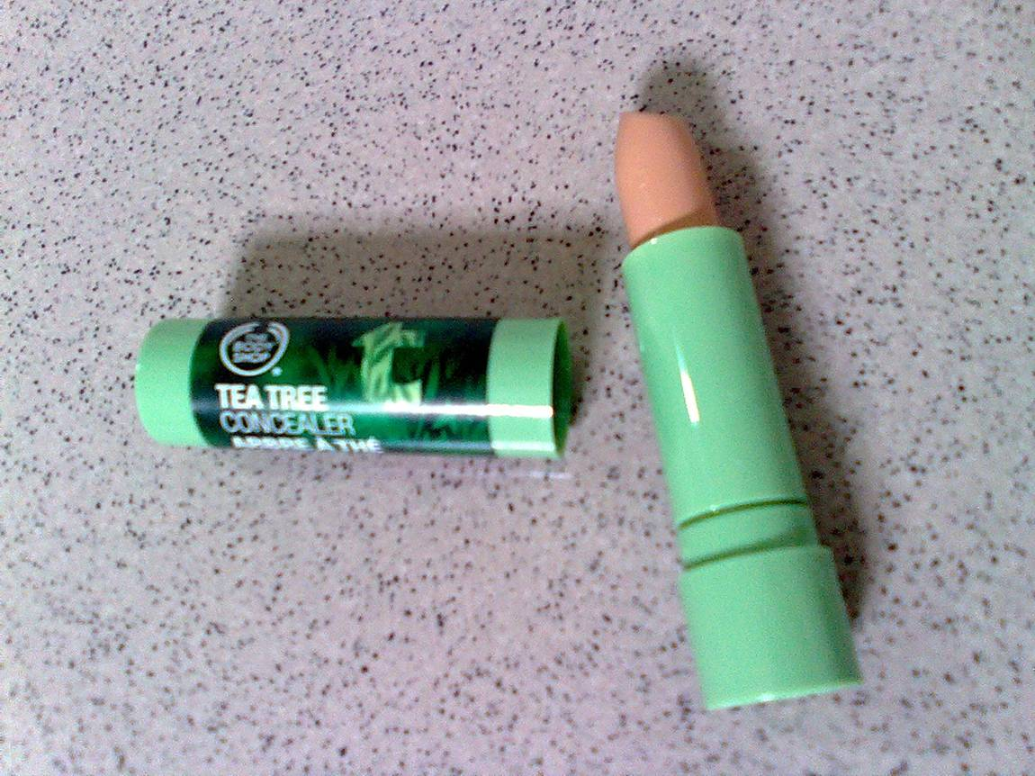 The Body Shop Tea Tree Concealer comes in a convenient stick.